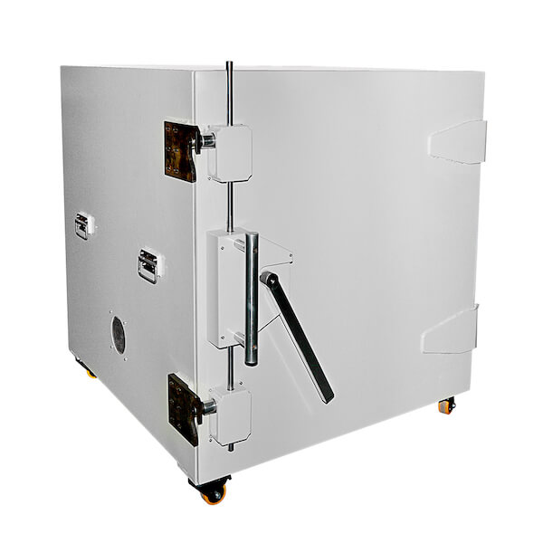 Hand operated shielded enclosure