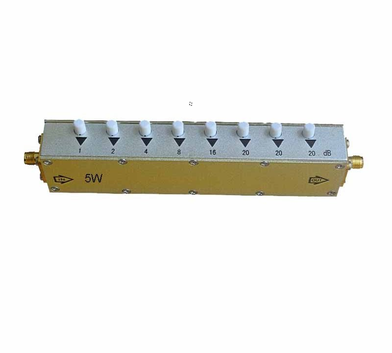 5W 10w 90/60/30 dB Adjustable Push Button Step Attenuator